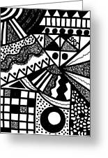 Black And White 18 Greeting Card