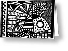 Black And White 19 Greeting Card