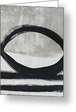 Black And White Abstract 2- Art By Linda Woods Greeting Card
