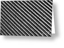 Black And White Abstract Lines Greeting Card