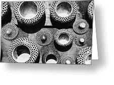 Black And White Abstract Pattern Beautiful Traditional Bowls Greeting Card