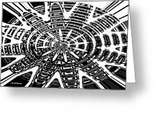 Black And White Abstracts Greeting Card