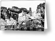 Black And White Amalfi Greeting Card