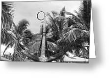Black And White Anchor Greeting Card