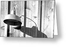 Black And White Barn Fixture 2 Greeting Card