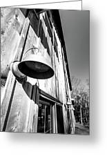 Black And White Barn Fixture Greeting Card