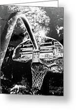 Black And White Basketball Art Greeting Card