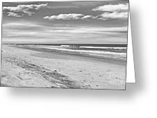 Black And White Beach Greeting Card