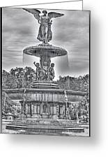 Bedesta Statue Black And White  Greeting Card