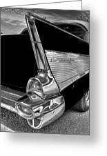 Black And White Bel Air Greeting Card