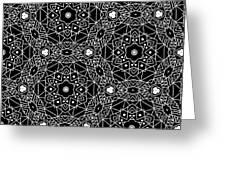 Black And White Boho Pattern 3- Art By Linda Woods Greeting Card