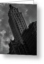 Black And White Buildings Greeting Card