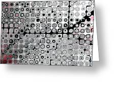 Black And White Circles A Greeting Card