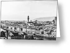 Black And White Florence Italy Greeting Card