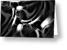 Black And White Fractal 080810a Greeting Card