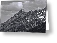 Black And White Grand Teton Detail Greeting Card
