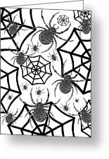 Black And White Halloween Greeting Card