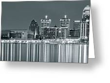Black And White Louisville Greeting Card