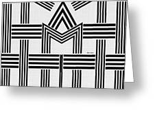 Black And White M Greeting Card