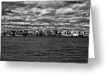 Black And White Mad Town Greeting Card