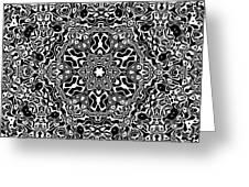Black And White Mandala 34 Greeting Card by Robert Thalmeier