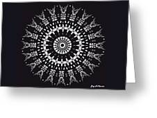 Black And White Mandala No. 1 Greeting Card