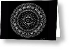 Black And White Mandala No. 2 Greeting Card