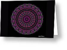 Black And White Mandala No. 3 In Color Greeting Card by Joy McKenzie