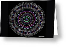 Black And White Mandala No. 4 In Color Greeting Card