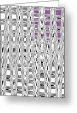 Black And White Metal Panel Abstract Greeting Card