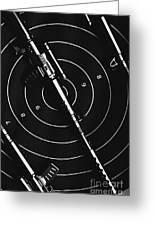 Black And White Military Marksman  Greeting Card