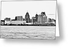 Black And White Motor City Pano Greeting Card