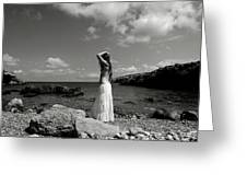 Black And White Nude 032 Greeting Card