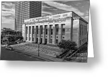 Black And White Of The Tennessee Supreme Court Building In Nashville Tennessee Greeting Card
