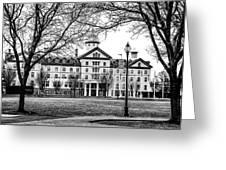 Black And White - Old Main - Widener University Greeting Card