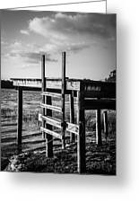 Black And White Old Time Dock Greeting Card