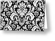 Black And White Paisley Pattern Vintage Greeting Card