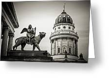 Black And White Photography - Berlin - Gendarmenmarkt Square Greeting Card