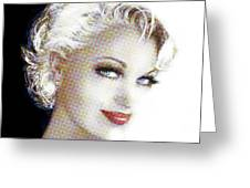 Black And White Red Lips Greeting Card