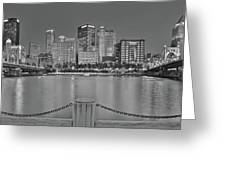 Black And White Riverfront 2017 Greeting Card