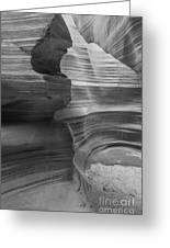 Black And White Sandstone Art Greeting Card