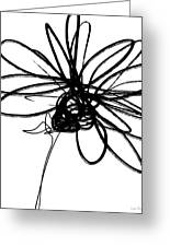 Black And White Sketch Flower 4- Art By Linda Woods Greeting Card