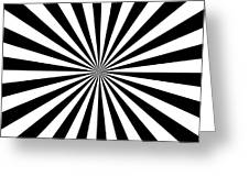 Black And White Starburst Greeting Card