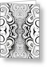 Black And White Symmetry   Greeting Card