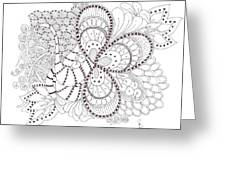 Black And White Tangle Greeting Card