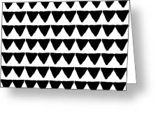 Black And White Triangles- Art By Linda Woods Greeting Card