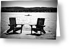 Black And White View Greeting Card