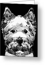 Black And White West Highland Terrier Dog Art Sharon Cummings Greeting Card