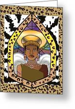 Black Angel Greeting Card by Brenda Dulan Moore