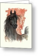 Black Arabian Horse 2013 11 13 Greeting Card